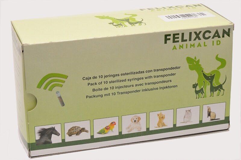 Dzīvnieku mikročipi FELIXCAN mini (1.4x8.5 mm) 10 gab iepakojums
